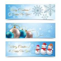 illustration vectorielle de bannières de Noël vecteur