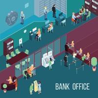 illustration isométrique de la banque vecteur