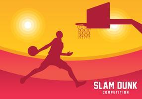 Slam Dunk Silhouette fond vecteur