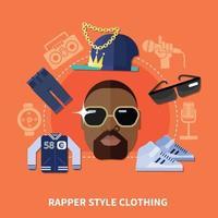 musique rap plat vecteur
