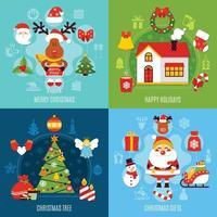 illustration vectorielle plane de Noël