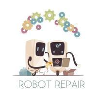 illustration vectorielle de robots vecteur