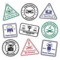 timbres grunge drone vecteur