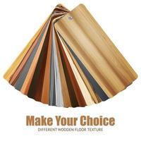 palette de couleurs de texture en bois vecteur