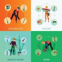 concept de travailleurs de la construction vecteur