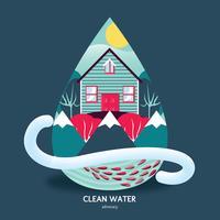 Conception de vecteur de plaidoyer pour l'eau propre