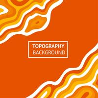 Topographie Fond Orange vecteur