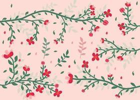 fond floral branches et feuilles vecteur