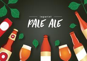 Conception de vecteur Imperial Pale Ale