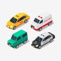 véhicule de voiture isométrique pour le transport personnel et les transports publics