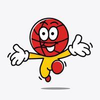 Illustration de mascotte de basket-ball vecteur