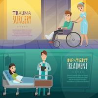bannières de patients médecins vecteur
