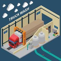 composition isométrique du véhicule camion vecteur