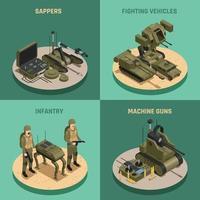 robots de combat isométrique 2x2 vecteur