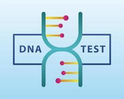 Structure de molécule d'ADN avec lettrage sur fond bleu clair