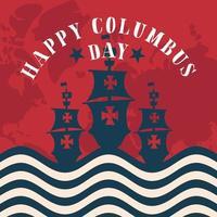 navires pour la célébration de la joyeuse journée de colomb