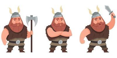viking dans différentes poses.