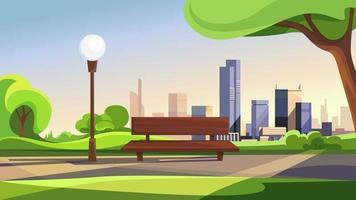 paysage de parc de la ville d'été vecteur
