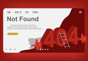 page 404, modèle de conception introuvable vecteur