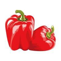 icônes de légumes sains poivrons frais vecteur