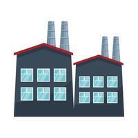 Icône de l'industrie de l'énergie de la centrale nucléaire, illustration vectorielle vecteur