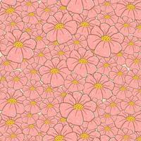 fleurs roses mignonnes doodle dessin de fond