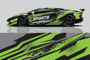 voiture wrap graphique racing abstrait pour wrap et vinyle autocollant vecteur