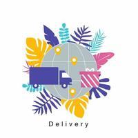 concept de service de livraison de camion