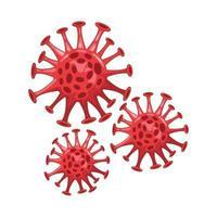 icône isolé de particule de coronavirus vecteur