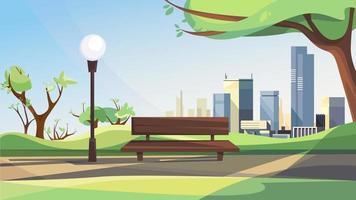 paysage de parc de la ville de printemps vecteur