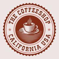 étiquette de café ronde vintage