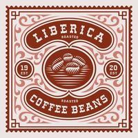 étiquette de café vintage