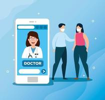 technologie en ligne avec des personnes malades