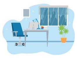 lieu de travail avec fond de bureau et d & # 39; ordinateur