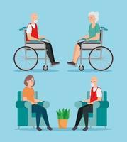 groupe de personnes âgées avatar caractère