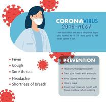 femme médecin pour la prévention du coronavirus