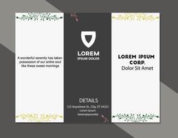modèle de vecteur de mise en page couverture brochure feuillage design moderne