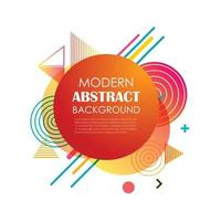 conception de motif géométrique abstrait cercle rouge et arrière-plan. utiliser pour la conception moderne, la couverture, le modèle, la décoration, la brochure, le dépliant. vecteur