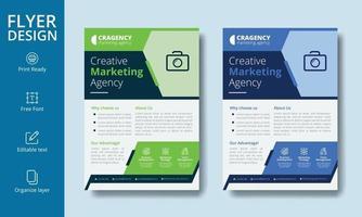 conception de flyer entreprise de taille a4 créatif avec des couches organisées