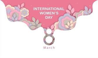 illustration de concept de journée internationale de la femme avec des fleurs vecteur