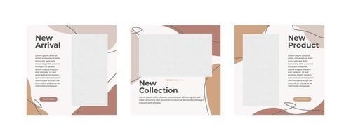 publication de médias sociaux de meubles modernes minimalistes