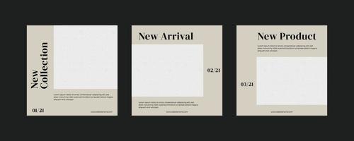 modèle de publication minimaliste sur les réseaux sociaux.