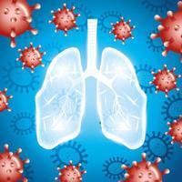 poumons humains pour la campagne contre le coronavirus vecteur