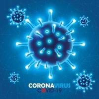 fond de campagne contre le coronavirus vecteur