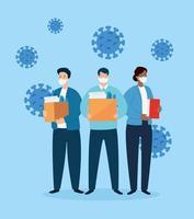 gens d'affaires au chômage en raison de la pandémie de coronavirus vecteur