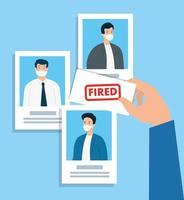 les hommes d'affaires perdent leur emploi vecteur