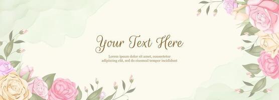beau fond de bannière de toile de fond floral vecteur
