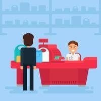 illustration de concept de magasinage vecteur