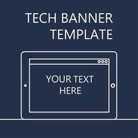 bannière web avec tablette vecteur