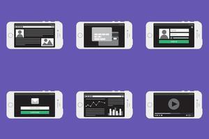 formulaire de modèle Web sur smartphone vecteur